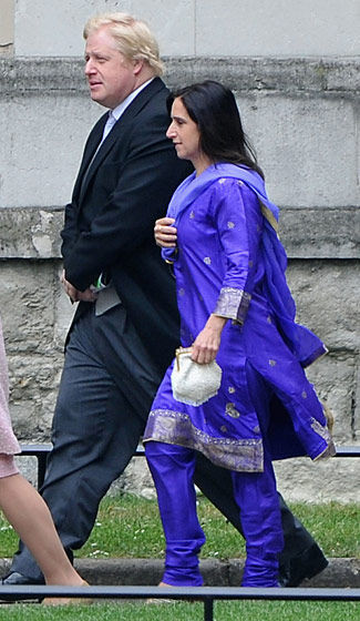 伦敦市长Boris Johnson和 Marina Johnson