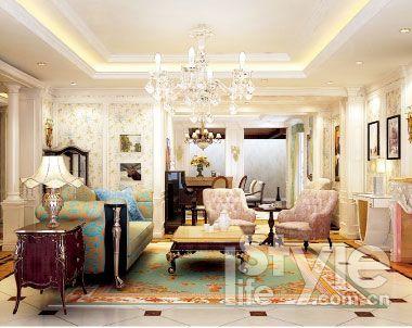 法式古典 客厅 玄关