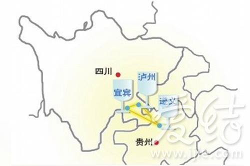 手绘赤水河流地图