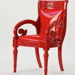 范思哲红色亮皮靠椅