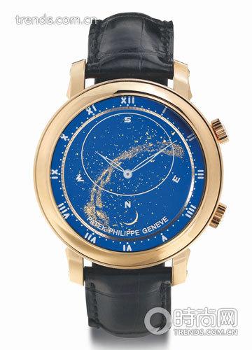 百达翡丽深蓝天空表盘腕表