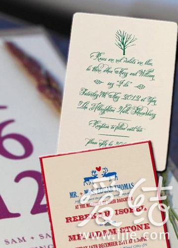 Vintage 邀请卡,用心制作。