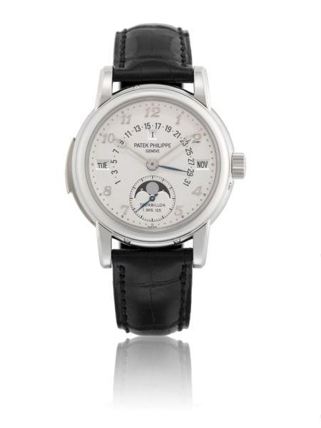 2007年制型号5016的铂金三问万年历腕表