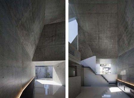混凝土画廊似的空间