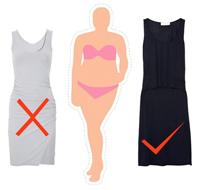 苹果型的身材不要穿紧身的连衣裙
