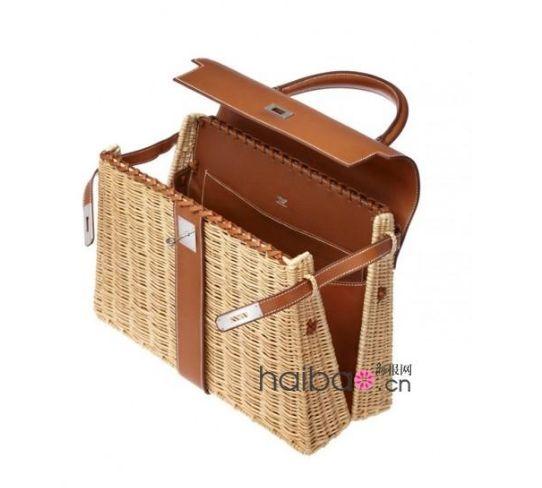 """爱马仕""""凯莉""""包 (Hermes Kelly Bag) """"Picnic Bag""""藤编系列野餐包"""
