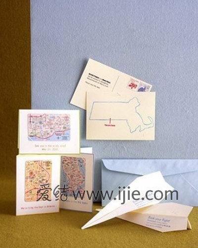 地图主题婚礼纪念纸品