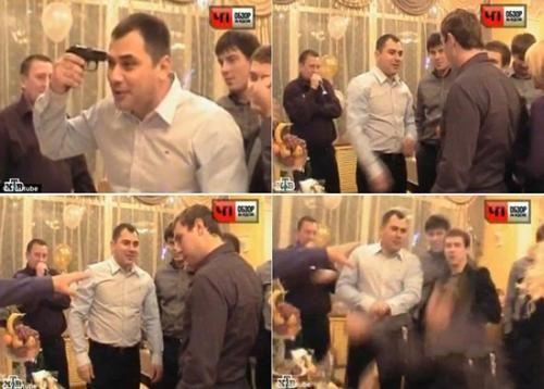俄罗斯男子婚礼玩轮盘赌,一人脑部被打爆