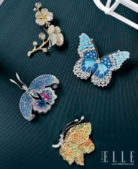 ry Set Butterfly 蝴蝶项链-源于自然的蝴蝶珠宝