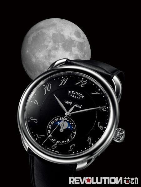 爱马仕 Arceau Grande lune全日历月相腕表