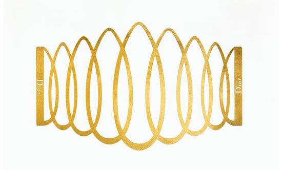 Dior圣诞限量版24K金臂环纹身贴纸