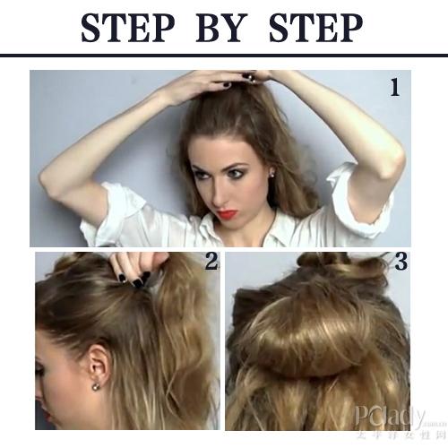 盘发,如果发质是较为细软或没有卷度的人,前一天你可以将发丝卷绕多圈图片