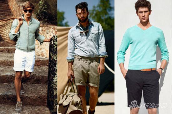 男士短裤穿搭示范