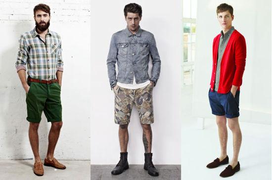 男士短裤穿搭示例