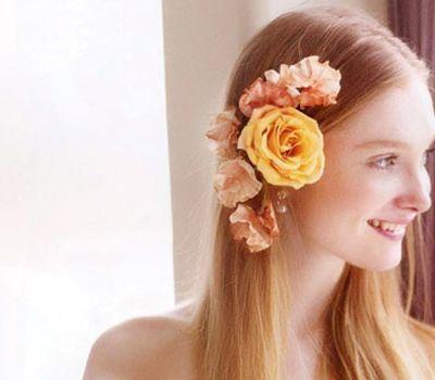 编辑点评:在夏日成为新娘的你也不妨将清爽的编发融入新娘发型中.图片