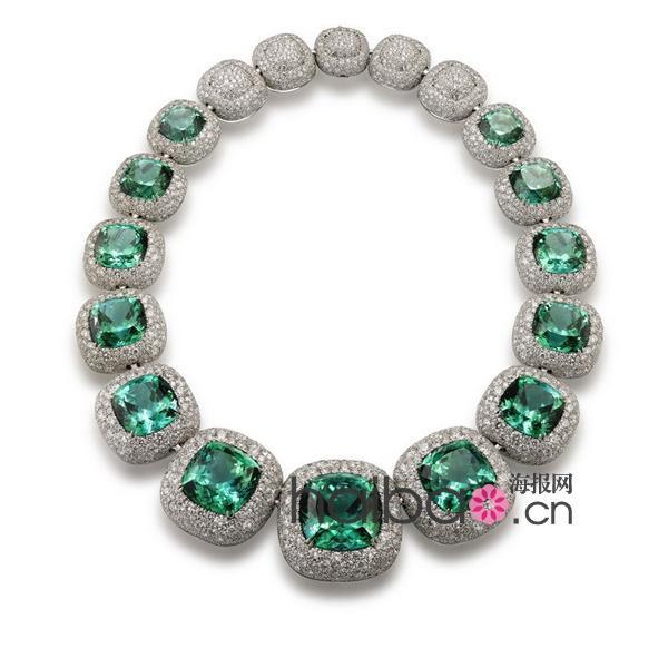 <b>大卫・雅曼 (</b>David Yurman<b>) </b>高级定制珠宝<b>系列湖水蓝碧玺</b>钻石项链