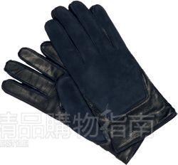 黑色皮手套 Burberry