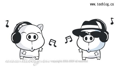 可爱的音乐猪猪肉感十足,让人爱不释手