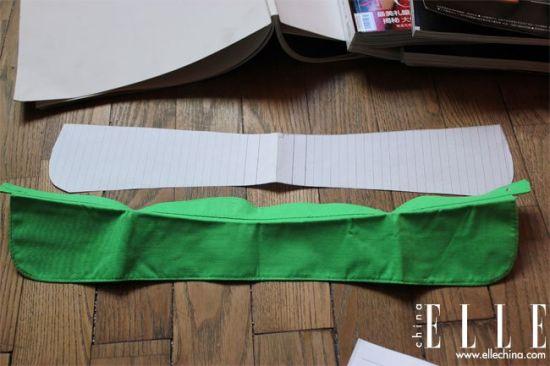 做假领子所需的布和纸样