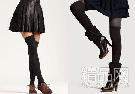 高筒袜怎么搭配显纤细