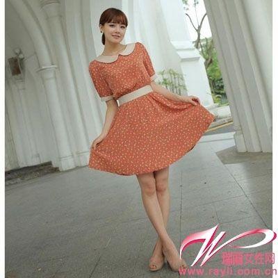 A型裙+高跟鞋
