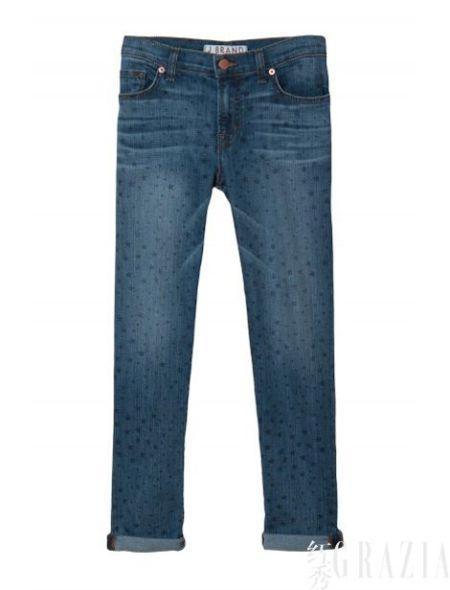 J Brand暗色星形印花牛仔裤,$198