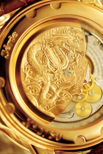 中国龙限量版卡罗素腕表背面