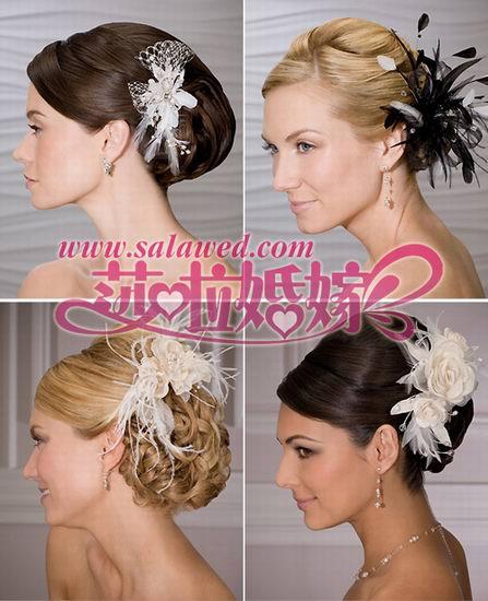 36款新娘发型 卷发直发百搭配饰