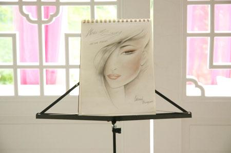 彩妆师手绘稿,轻盈笔触展现艺术天分