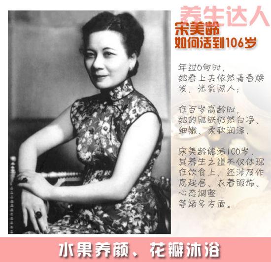 如何活到106岁:传奇夫人宋美龄养生术