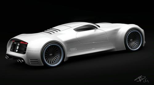 奥迪R10超跑车假想图
