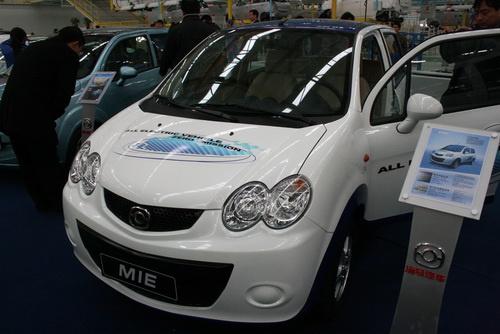 海马王子电动汽车-海马4款新能源车亮相 海马王子明年1月上市高清图片