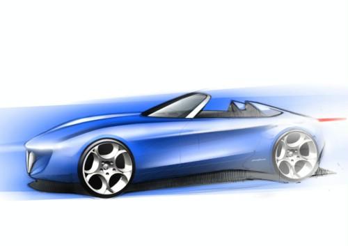 阿尔法罗密欧敞篷概念车设计草图