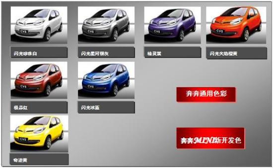 长安奔奔mini新车有7款颜色可选