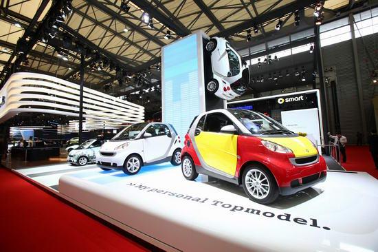 2009年上海车展smart展台