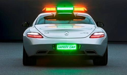 SLS AMG安全车的尾部号牌