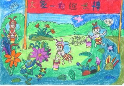 我心中的小学儿童画_我心中的小学简笔画