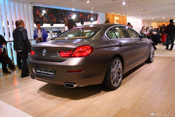 BMW 6系四门轿跑尾部