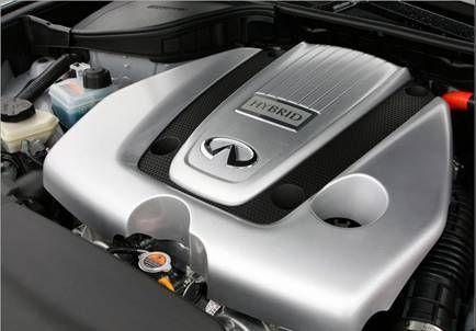 这套混合动力系统采用了一台电动机和两套离合器的混合动力系统