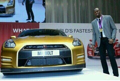 人中博尔特 车中GT-R 20日黄金版Nissan GT-R义卖正式启动