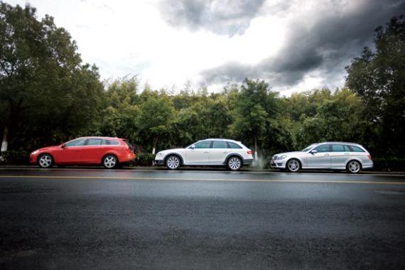 奔驰C旅行 vs沃尔沃V60 vs奥迪A4 allroad