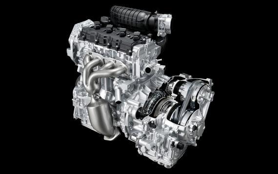 这一CVT系统与横置的四缸引擎进行匹配