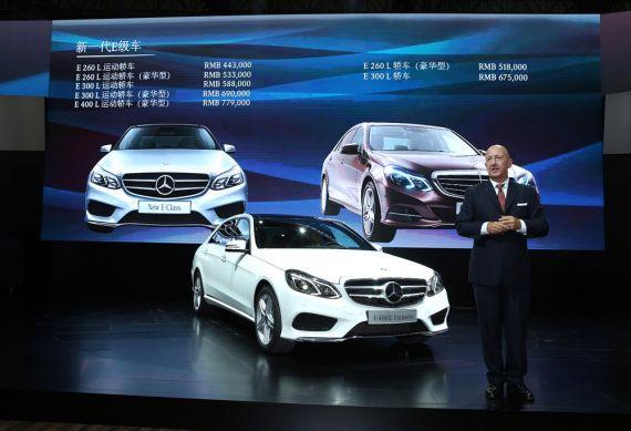 """倪凯先生表示:""""新一代E级车是专门为推动中国经济发展的中坚力量而量身打造。"""""""