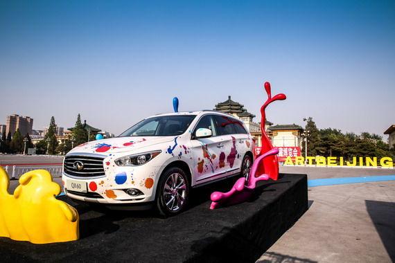 1-当代知名艺术家南海波打造英菲尼迪QX60艺术车型展台