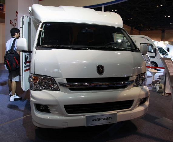 其中全新大海狮商务旅居车,h2l大海狮c级旅居车是此次华晨国际汽贸