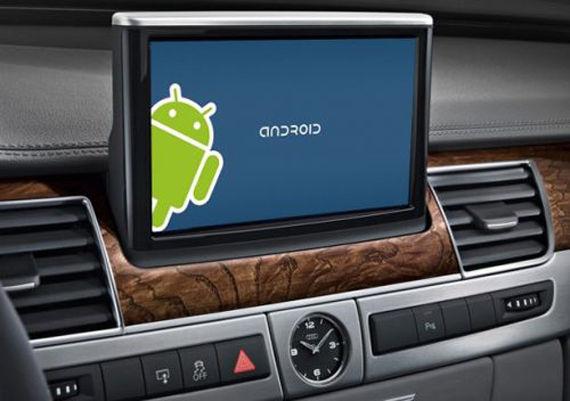 Android Auto系统实车示意图