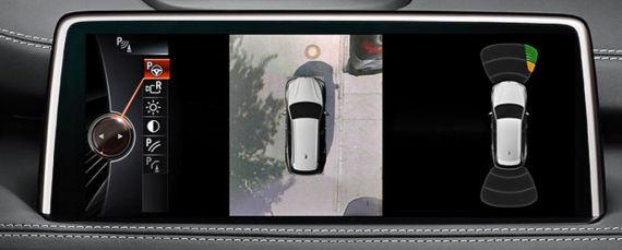 宝马X5的环视影像监控
