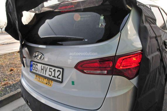 Hyundai Santa Fe facelift spy 08