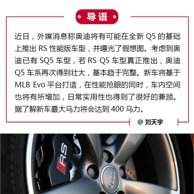 性能新成员 奥迪RS Q5_车猫网