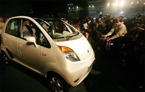 印度Tata全新Nano微型车发布会现场